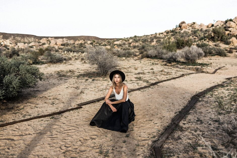 Joshua Tree wedding editorial at The Ruin Venue in Pioneertown with Sarah Falugo Photography