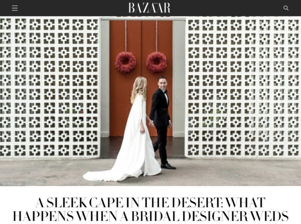 Parker Palm Springs Wedding as seen in Harper's Bazaar Magazine by photographer Sarah Falugo