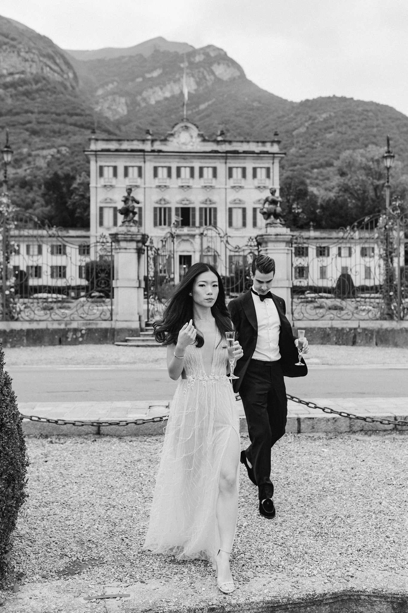 Lake Como Pre Wedding Shoot with Sarah Falugo for Vogue at Vila Sola Cabiati