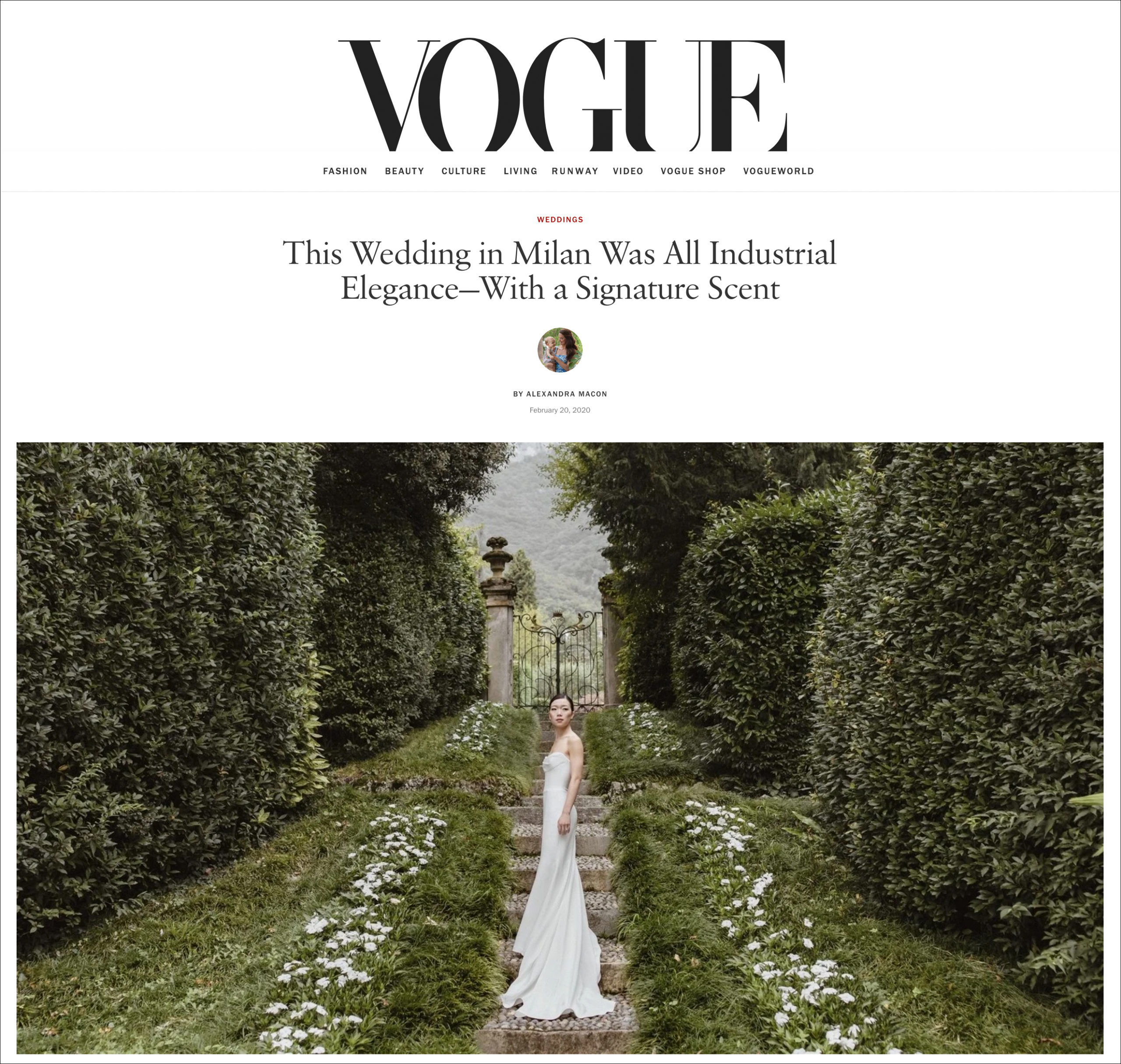Villa Sola Cabiati wedding shoot with top photographer Sarah Falugo for Vogue.com